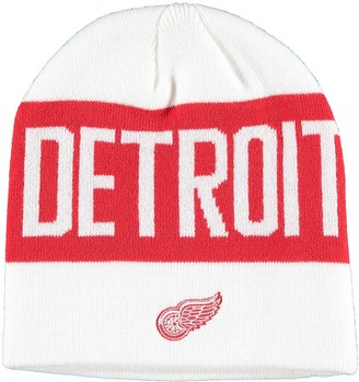 adidas Men's White Detroit Red Wings Sport City Above Beanie