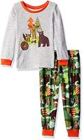 Komar Kids Toddler Boy's Size Camping Wildlife Jersey Pajama Set
