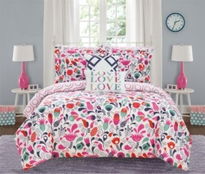 Chic Home Tulip Garden 9 Piece Full Bed In a Bag Comforter Set Bedding
