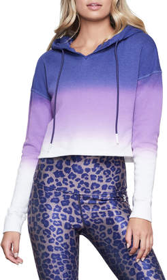 Good American Ombre Cropped Hoodie Sweatshirt - Inclusive Sizing