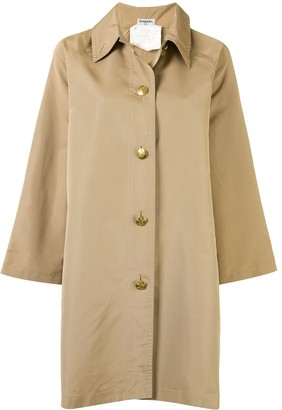 Chanel Pre Owned CC buttons single-breasted trench coat