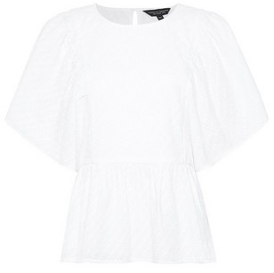 Dorothy Perkins Womens Ivory Angel Sleeve Top