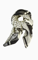 BCBGMAXAZRIA Plaid Wrap Scarf