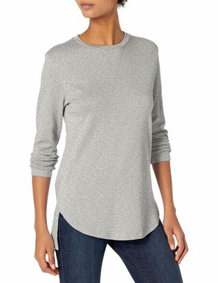 Daily Ritual Cotton Modal Stretch Slub 3/4-sleeve Tunic Shirt