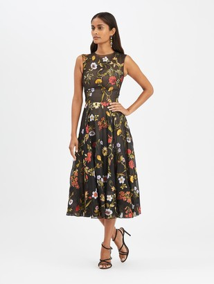 Oscar de la Renta Fil Coupe Cocktail Dress