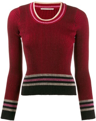 Marco De Vincenzo Stripe Fitted Sweater