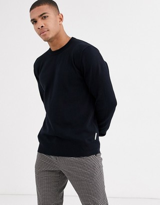 Bench Knitted crew neck jumper in black