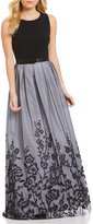 Jessica Howard Sleeveless Floral Embroidered Ballgown