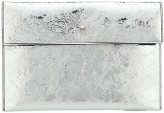 Alexander McQueen Metallic leather pouch