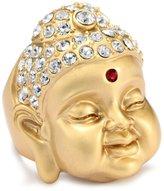 """Andrew Hamilton Crawford Zen"""" Gold Buddha Ring"""