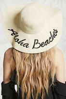 Forever 21 FOREVER 21+ Aloha Beaches Graphic Straw Hat