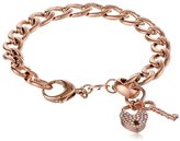 Fossil Rose Gold-Tone Charm Starter Bracelet