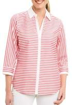 Foxcroft Striped Cotton Shirt