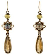 Stephen Dweck Pearl, Citrine & Garnet Drop Earrings