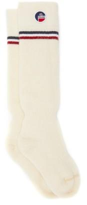 Fusalp Lodge Striped-cuff Wool-blend Compression Socks - Cream