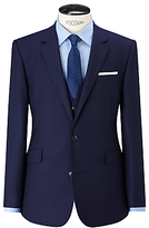 John Lewis Super 100s Wool Birdseye Tailored Suit Jacket, Blue