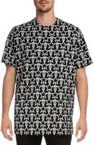 Givenchy Star & Fork Printed Short-Sleeve T-Shirt, Black/White