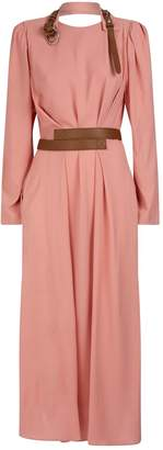 Stella McCartney Sable Crepe Midi Dress
