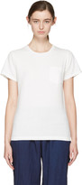 Blue Blue Japan White Crewneck Pocket T-shirt