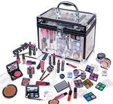 SHANY Carry All Trunk Professional Makeup Kit - Eyeshadow,Pedicure,manicure With Black Trim Clear Case by SHANY Cosmetics