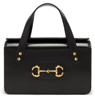 Gucci 1955 Horsebit Boston Small Leather Handbag - Black