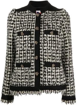 Ports 1961 Collarless Tweed Jacket