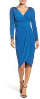 Adrianna Papell Embellished Wrap Dress (Regular & Petite)