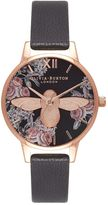 Olivia Burton **Midi Floral Moulded Bee Watch