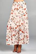 Paper Crane Floral Print Skirt