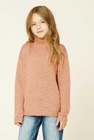 Forever 21 FOREVER 21+ Girls Mock Neck Sweater (Kids)