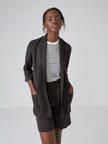 Frank + Oak Washed Tencel Unstructured Blazer in Black
