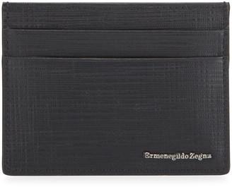 Ermenegildo Zegna Men's Printed Leather Card Case