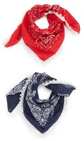 Capelli of New York Women's 2-Pack Lace Trim Bandanas