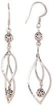 Lois Hill Sterling Silver Double Twisted Ring Drop Earrings