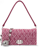 Miu Miu Vichy Matelassé Gingham Poplin Shoulder Bag - Red