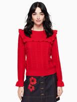 Kate Spade Ruffle yoke sweater
