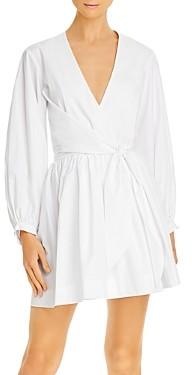 Gary Bigeni Cotton Tie-Waist Wrap Dress