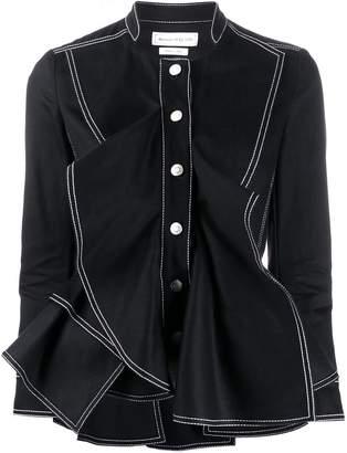 Alexander McQueen ruffled fitted jacket