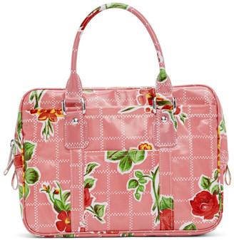 Comme des Garcons Pink Printed Top Handle Bag