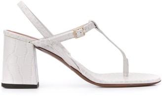 L'Autre Chose Embossed 75mm Sandals