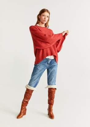 MANGO Fine-knit sweater coral red - XS - Women