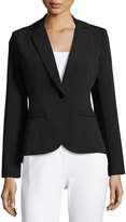 Neiman Marcus One-Button Suiting Jacket, Black