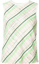 Maison Margiela patterned tank top - women - Cotton/Acrylic/Polyamide/Wool - 40