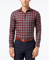 Bar III Men's Slim-Fit Wine Oversize Gingham Dress Shirt, Only at Macy's
