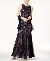 Alex Evenings Sequined Lace Mermaid Gown