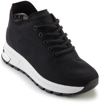 DKNY Women's Sneakers BLK:BLACK - Black Logo-Accent Mak Mesh Sneaker - Women