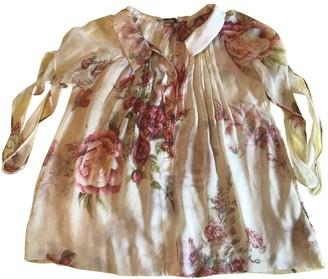 Wunderkind Ecru Silk Top for Women