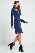 BCBGeneration Long-Sleeve Surplice Dress - Navy