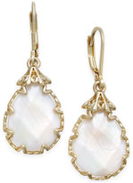 lonna & lilly Gold-Tone White Stone Drop Earrings