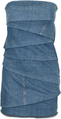 Philosophy di Lorenzo Serafini Philosophy Denim Bustier Mini Dress